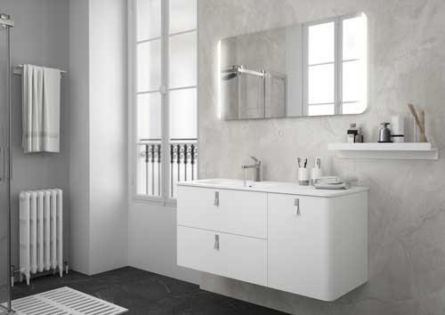 Mueble de baño Uniiq Salgar color blanco