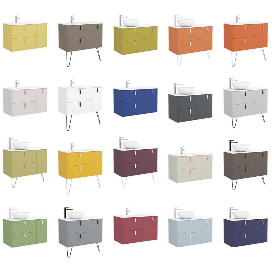 Colores muebles de baño Uniiq de salgar