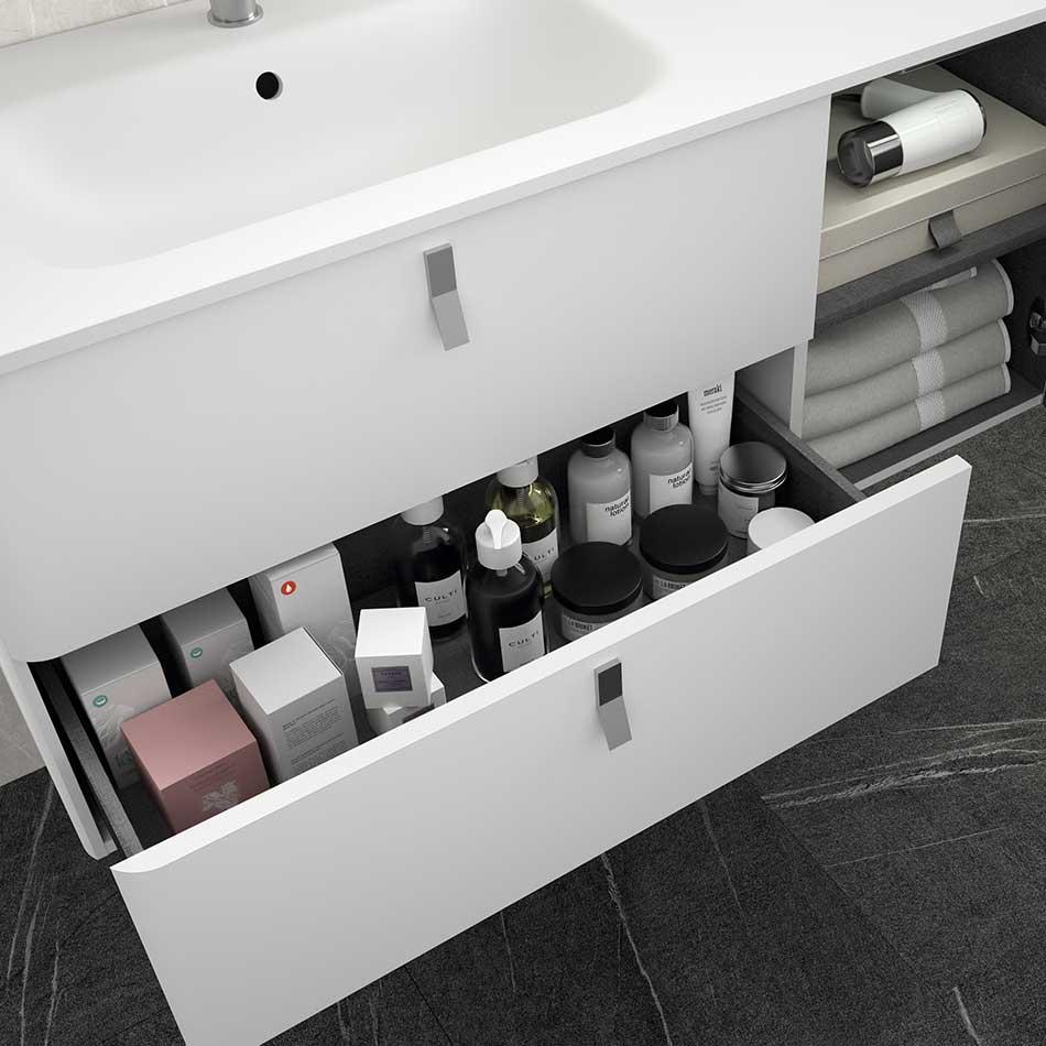 Detalle de cajón Muebles de baño Uniiq Salgar