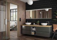 Muebles de baño fussion de salgar gris brillo