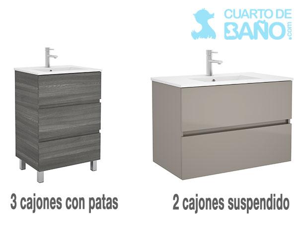 Modelos de muebles de baño fussion